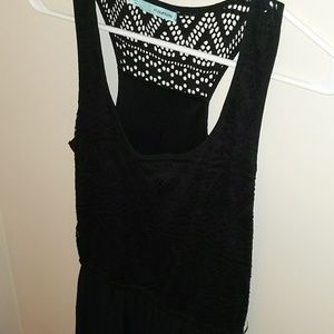 Maurice's Black Crochet High Low Dress